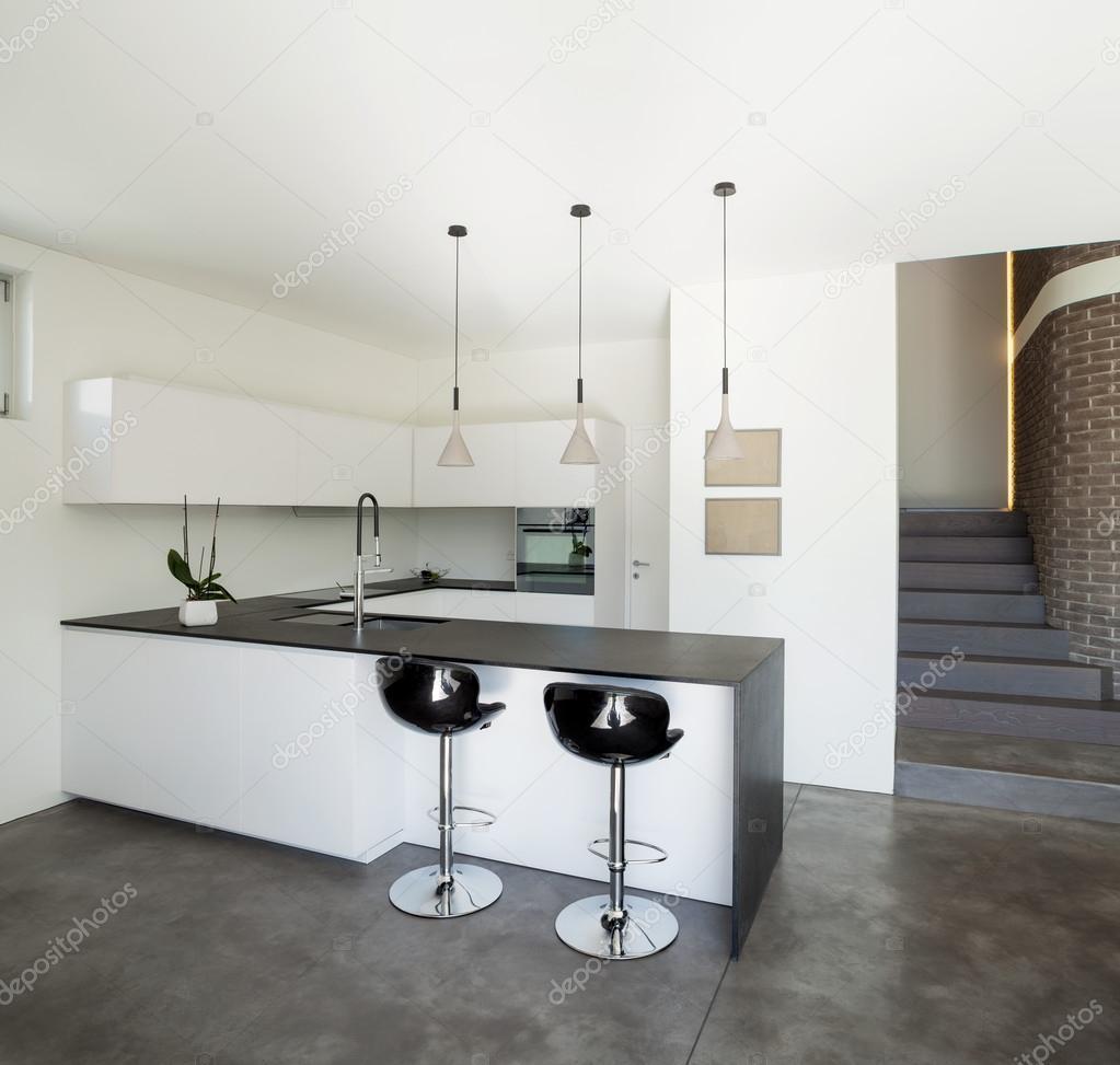 인테리어 디자인, 현대 아파트, 부엌 — 스톡 사진 © Zveiger #59035987