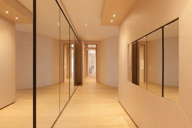 Modern luxury apartment: hallway