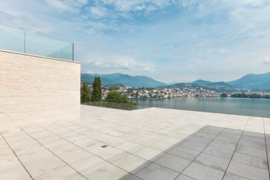 Modern penthouse terrace