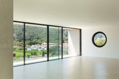 modern architecture, wide room