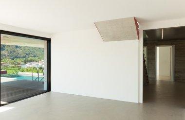 modern architecture, empty room