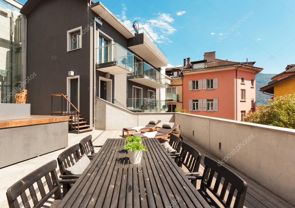 Terraza De Casa Moderna Fotos De Stock Zveiger 63043581