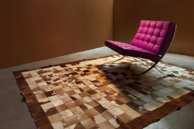 Room with modern armchair