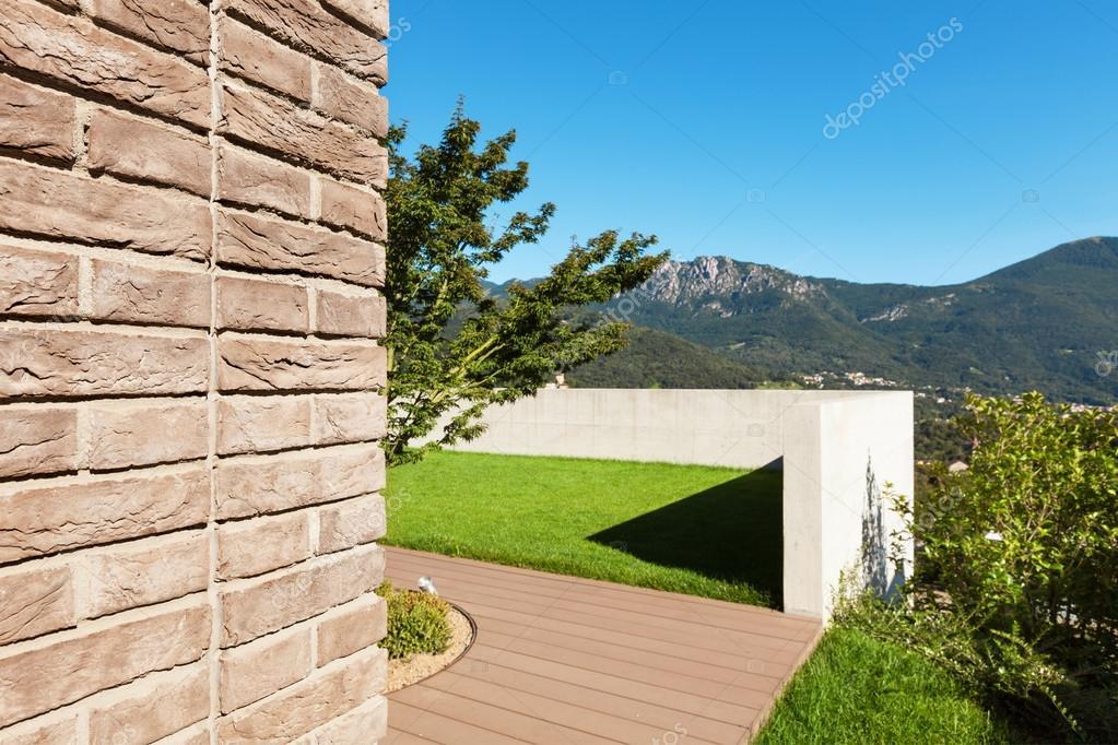 House, garden view