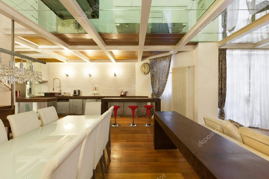 Wunderbar Architektur, Breite Loft Mit Modernen Möbel, Esszimmer U2014 Foto Von Zveiger