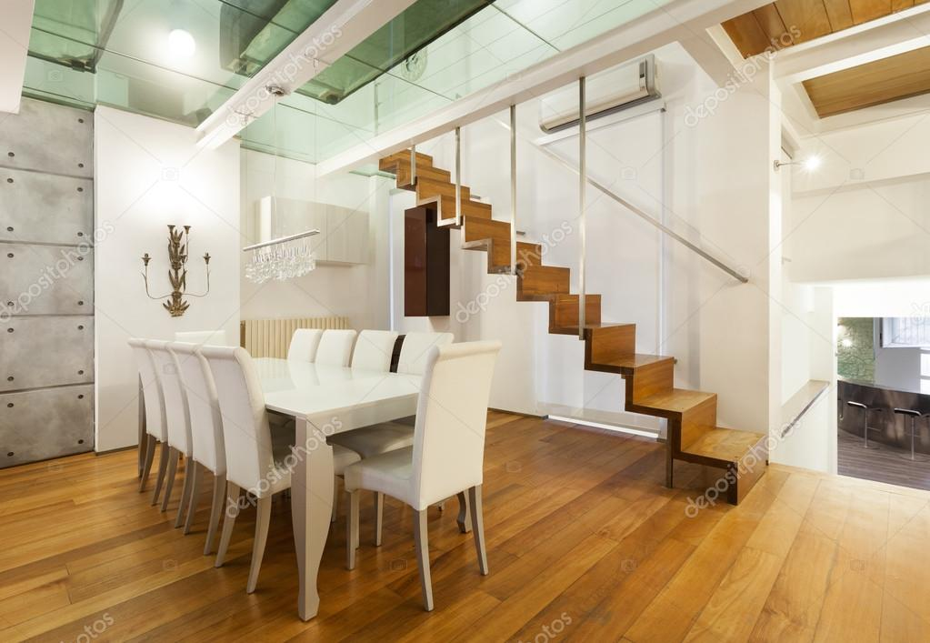 Architektur, Breite Loft Mit Modernen Möbel, Esszimmer U2014 Foto Von Zveiger