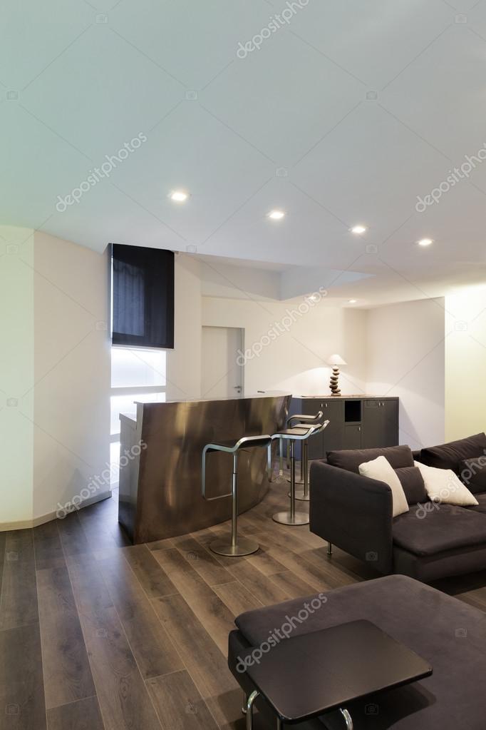 Interieur, woonkamer met bar — Stockfoto © Zveiger #71179539