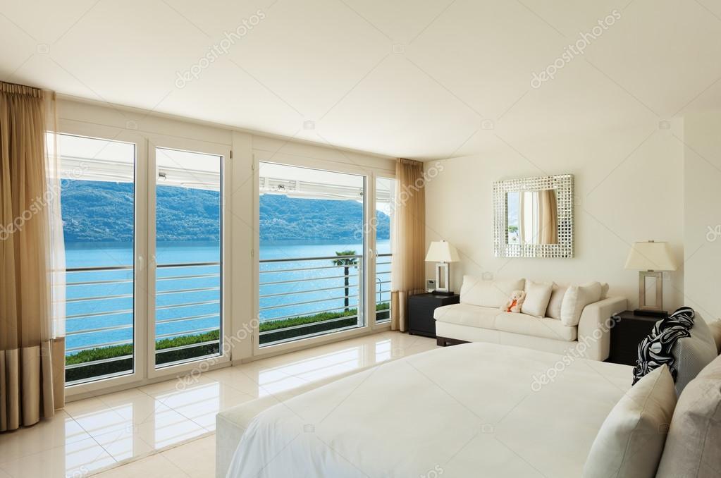 Modern interieur, slaapkamer — Stockfoto © Zveiger #71607167