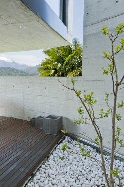 Courtyard of a modern home