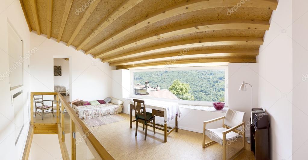 Interieur, moderne chalet — Stockfoto © Zveiger #75767805