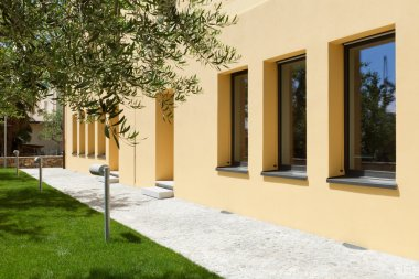 modern building garden