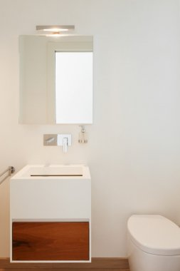 Interiors, modern bathroom