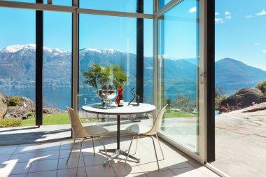 aperitif on the veranda, interior