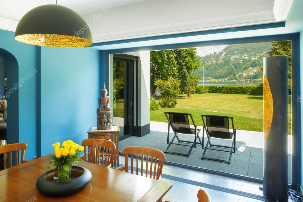 Dining room in a modern house