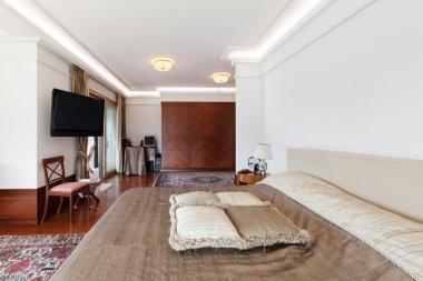 Interior, classic decor, bedroom