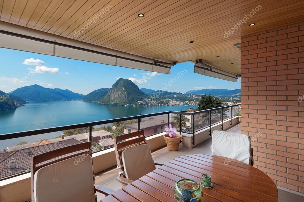 Interior, beautiful terrace