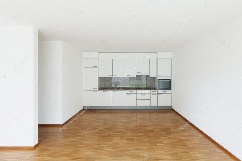 Vide salle de s jour avec cuisine photo 86615616 for Salle de sejour