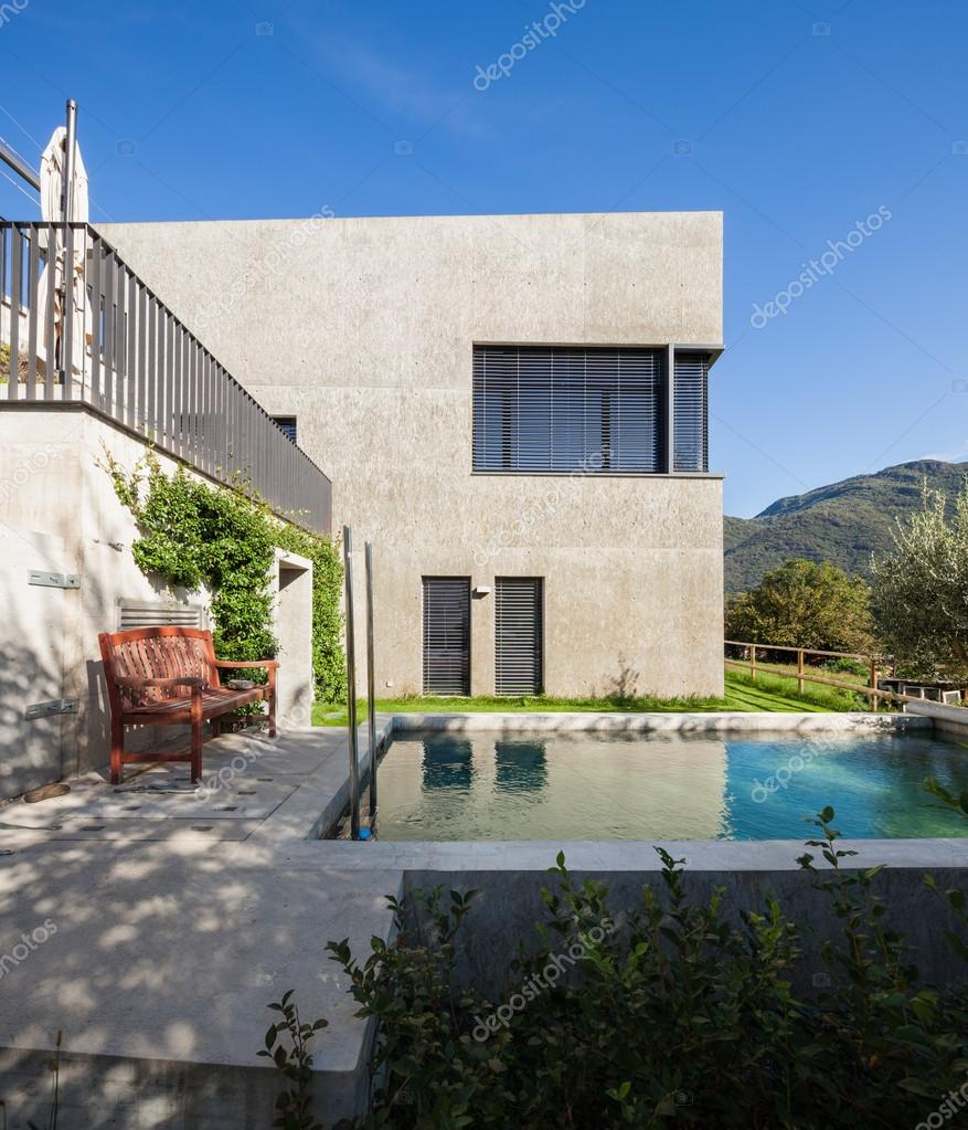 Architecture, detached villa with swimming pool