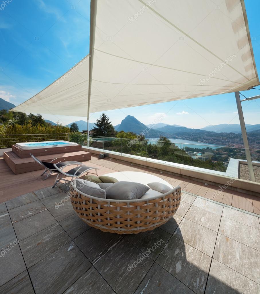 Beautiful terrace of a penthouse