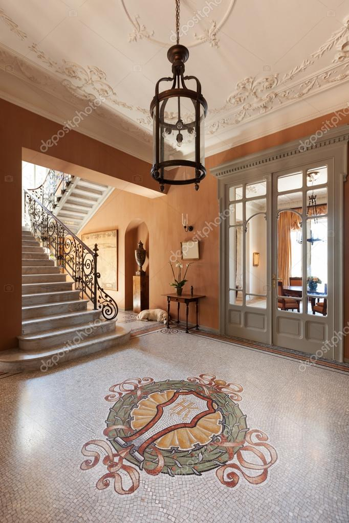 Grand foyer of a luxury mansion