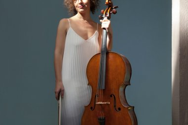 beautiful woman with cello