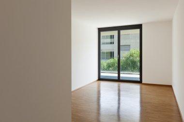 empty living room with balcony