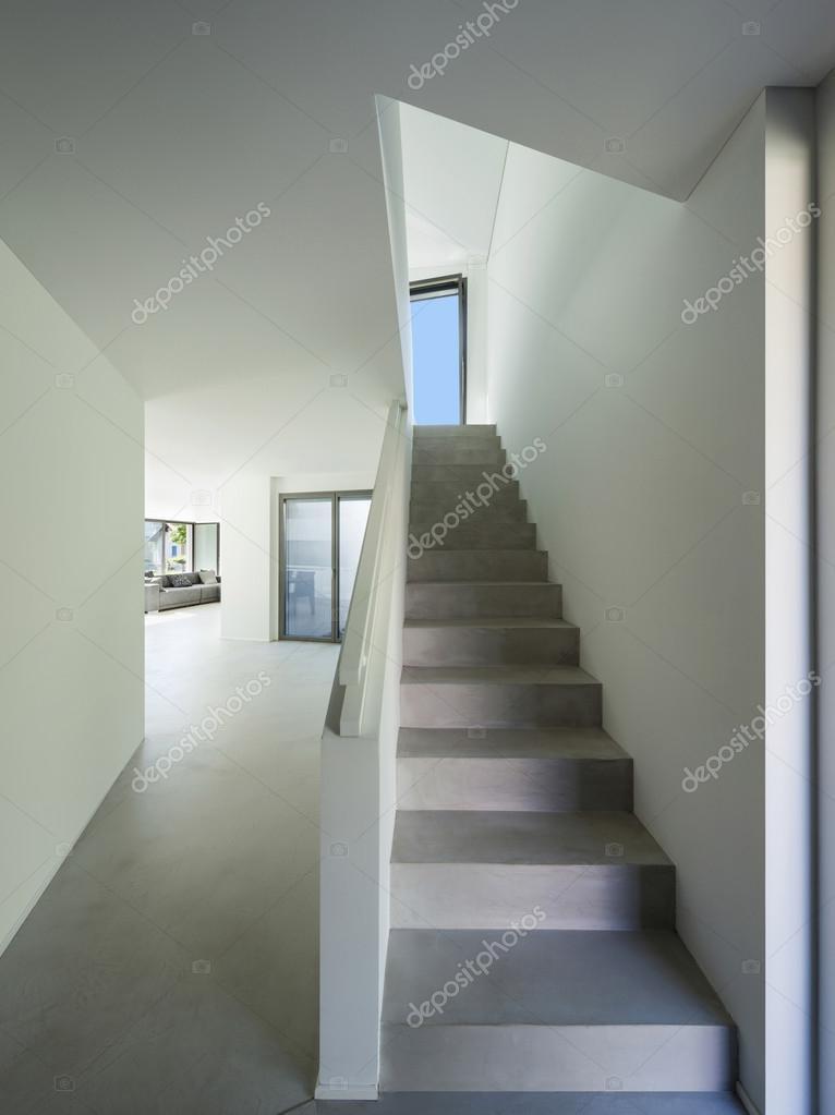Architecture, Intérieur De La Maison Modern, Escalier En Ciment U2014 Image De  ...