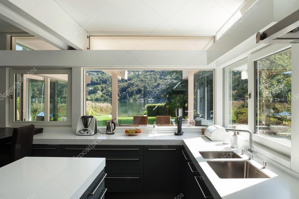 modern kitchen, interior house