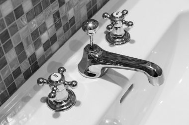 Detail of the tap, faucet, elements of furniture