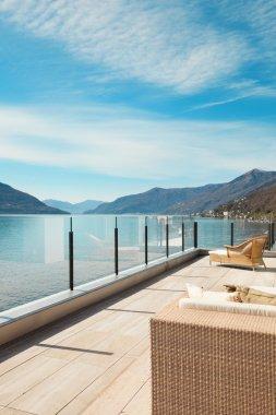 modern architecture, beautiful terrace