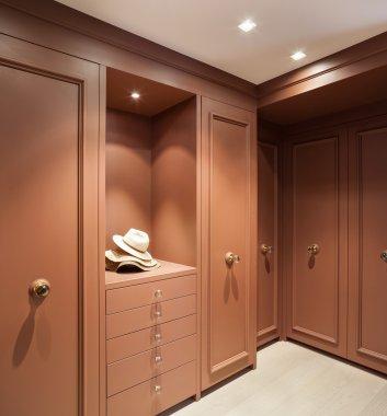 Interior, elegant wardrobe