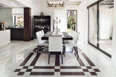 interiors, luxury dining room