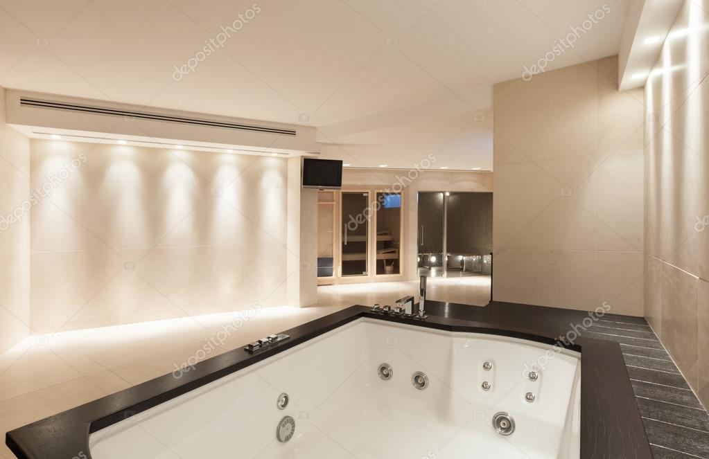 Interiors bathroom with jacuzzi u stock photo zveiger