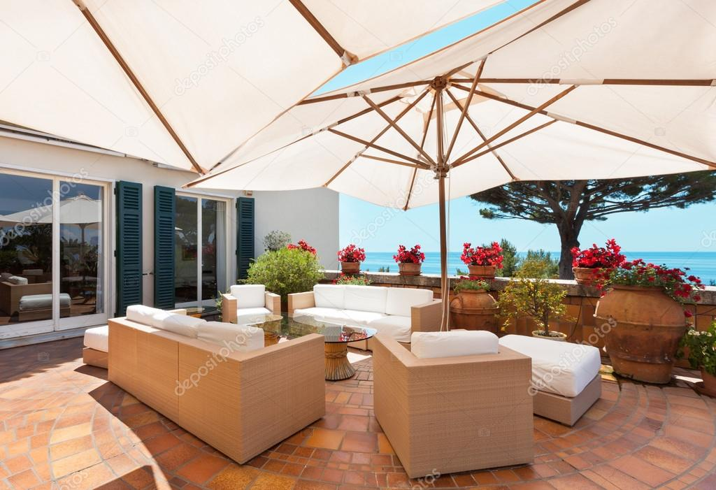 Beautiful terrace with sea view