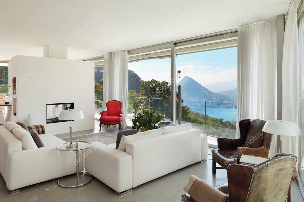Interieur, moderne Wohnzimmer — Stockfoto © Zveiger #99504612