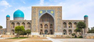 Facade madrasas in Registan Square in Samarkand