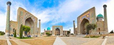 Facades of the three madrasahs on Registan Square in Samarkand