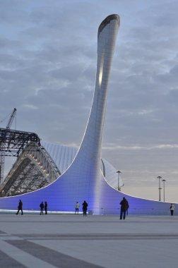 Olympic Torch in Sochi,Russia