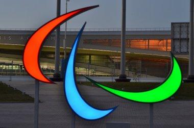 Agitos-Paralympic symbol in Sochi 2014