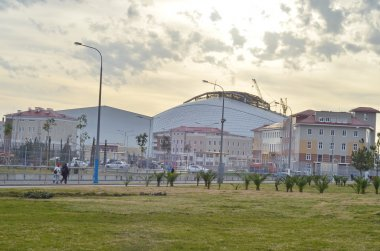 Central square in Olympic Park in Sochi, Russia