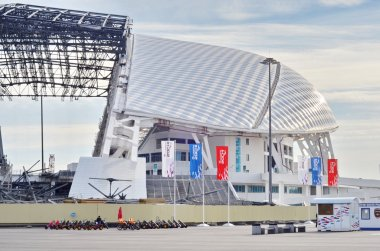 Fisht Olympic Stadium closeup