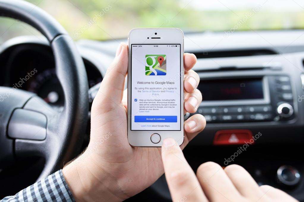 IPhone 5s with Google Maps in the hands of driver – Stock ... on google channing tatum, google lg g3, google iphone 6, google android, google iphone 6s, google instagram, google smartphone, google iphone 5 cases speck, google nokia lumia 920, google iphone logo, google iphone 6c,