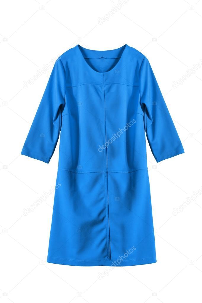 0fb2422ee4 Vestido básico azul aislado sobre blanco — Foto de Tarzhanova