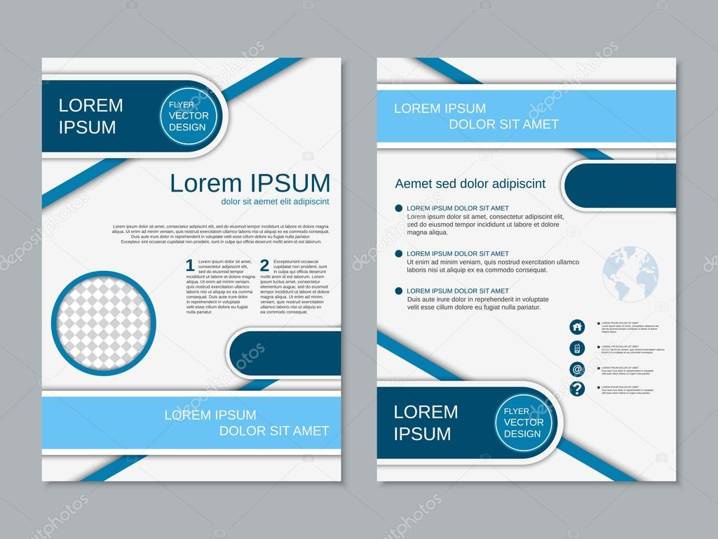 professional two sided flyer vector template stock vector ulvur