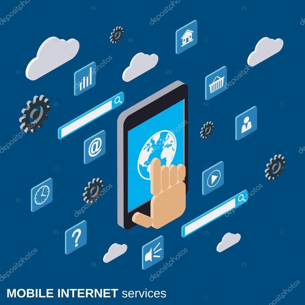 Mobile Internet-Dienste-Vektor-illustration — Stockvektor © Ulvur ...