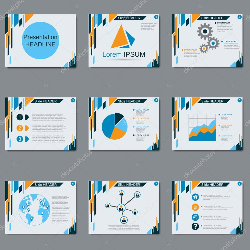 professional business presentation slide show vector design