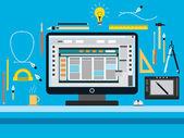 Photo Web design flat vector concept