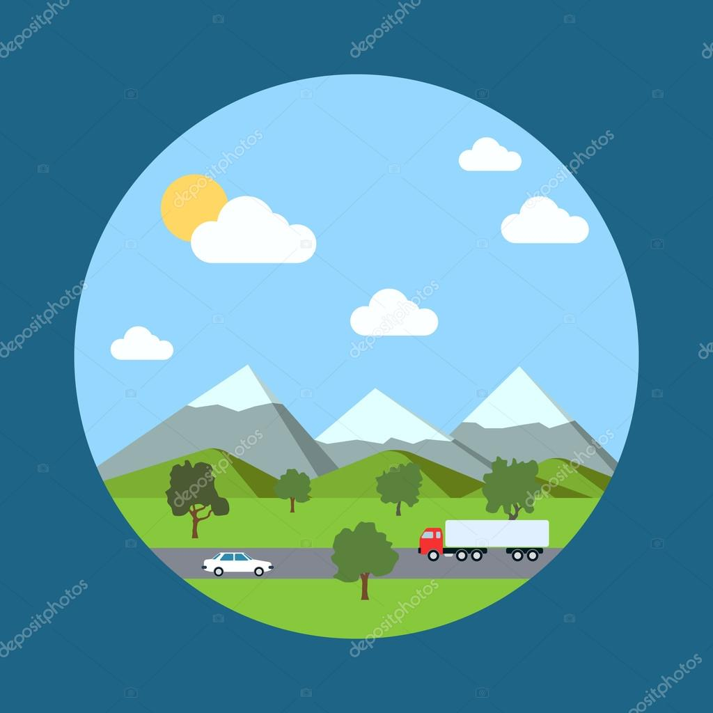 Landscape vector background