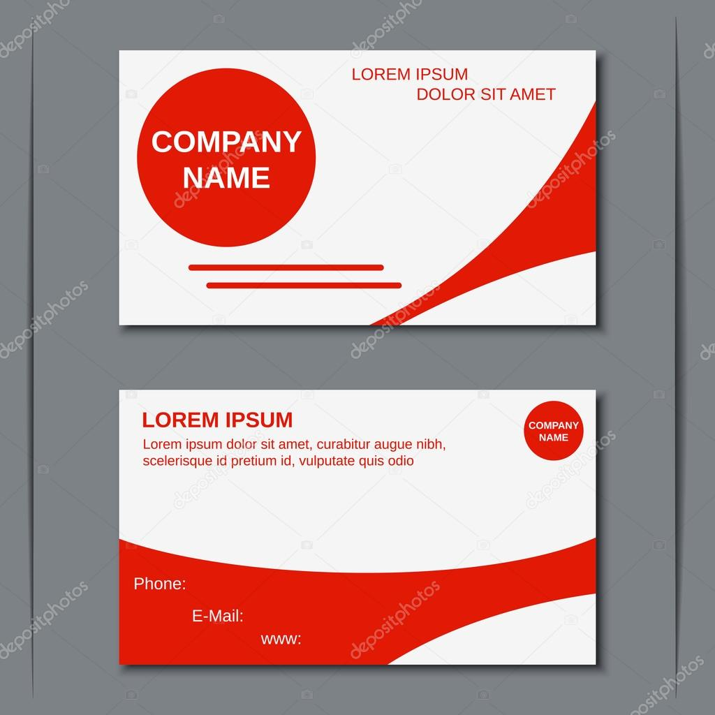 Modern business visiting card vector template — Stock Vector ...