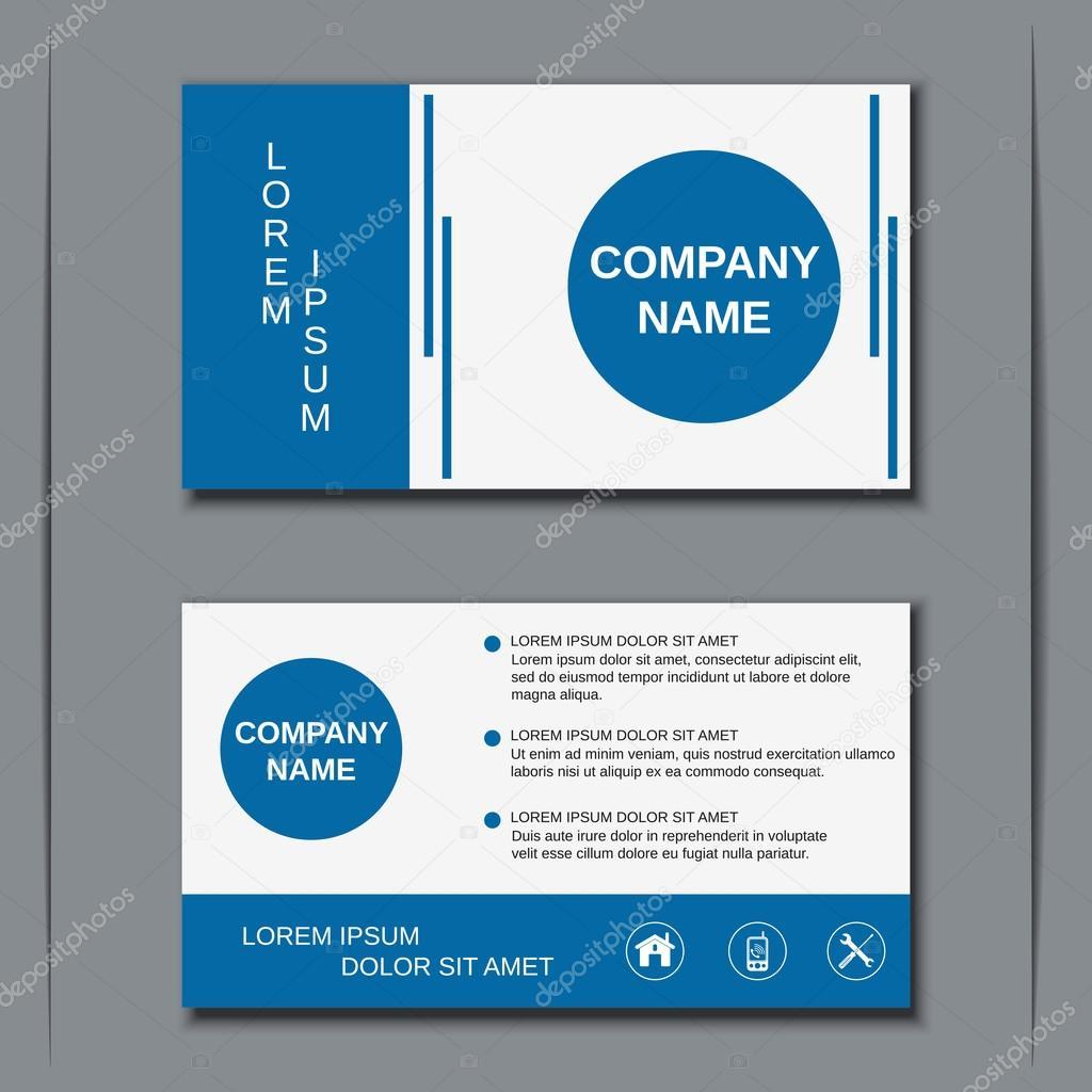 Modern business visiting card, banner, badge, sticker